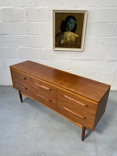 Mid Century William Lawrence Mid Century 6 Drawers Chest