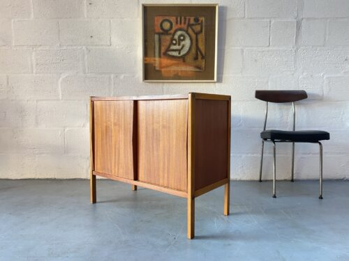 Vintage Teak & Oak Small Modular Sideboard with Sliding Doors by Bertil Fridhagen for Bodafors, 1958
