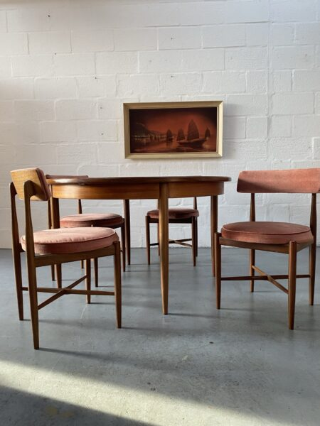 Vintage G Plan Fresco Dining Table and 4 Chairs