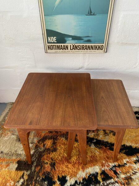 Vintage Pair of Danish Nesting Tables