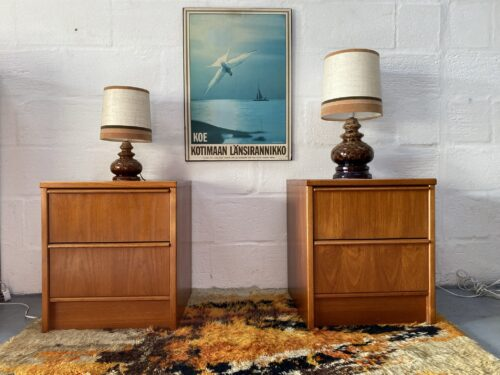 Matching Pair of Vintage Bedsides Cabinets