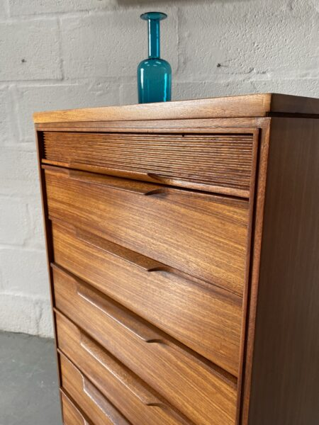 Vintage Walnut Chest of Drawers by White & Newton