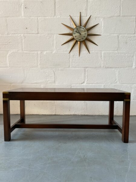 Vintage Campaign Style Coffee Table / Cocktail Table